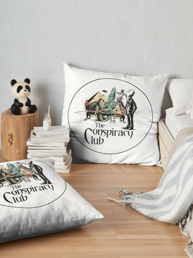 Alternate view of The Conspiracy Club Floor Pillow