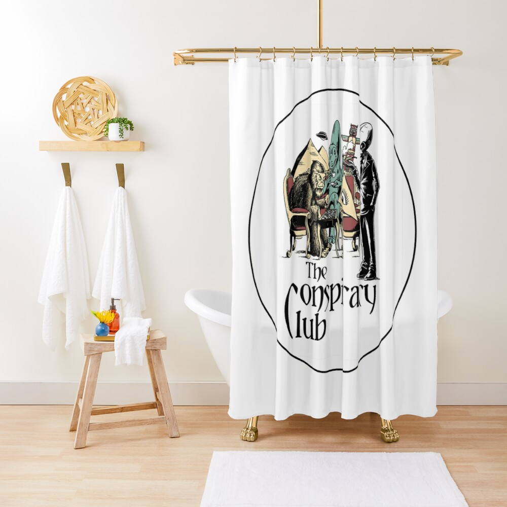 The Conspiracy Club Shower Curtain