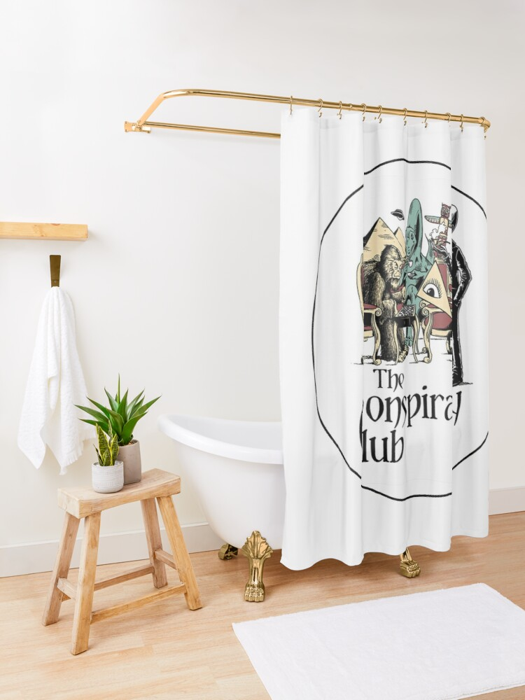 Alternate view of The Conspiracy Club Shower Curtain