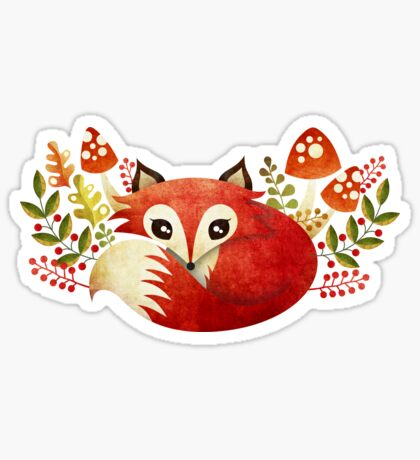Lazy Foxy Sticker