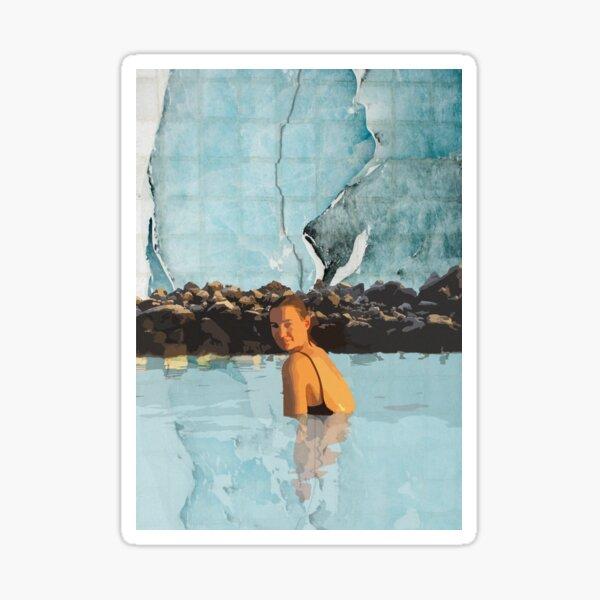 blue lagoon, iceland | graphic print Sticker