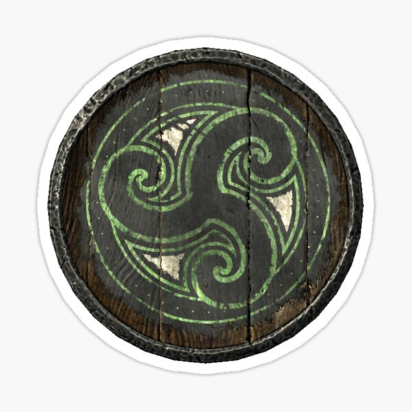 Morthal and Hjaalmarch logo (Hold guard shield) Sticker