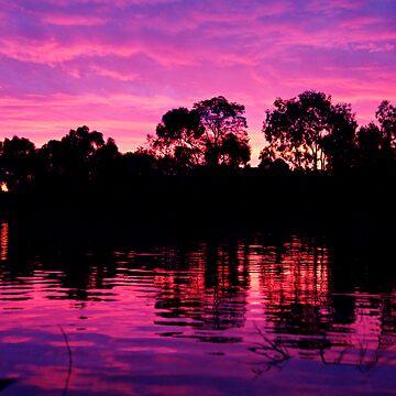 Lakeside Sunset by craziwolf