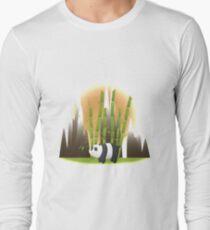 Panda & Bamboo - We Bare Bears Long Sleeve T-Shirt