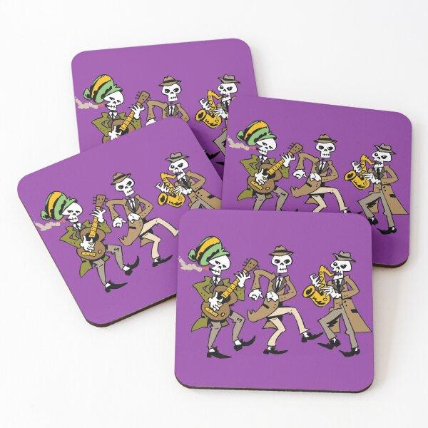Ska Skull Band Coasters (Set of 4)