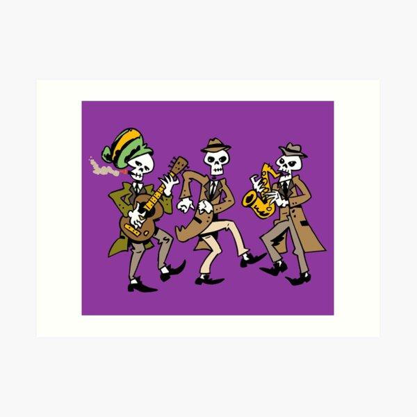 Ska Skull Band Art Print