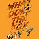 What Does The Fox Say ? by jpvalery