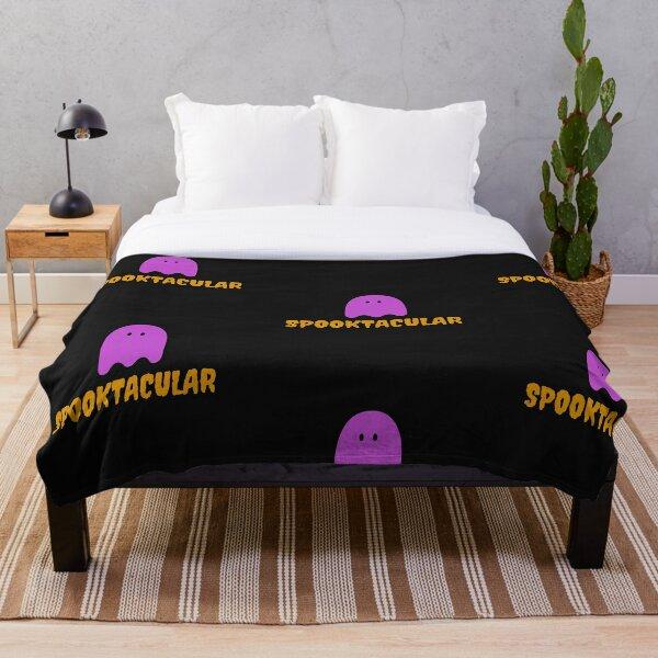 spooktacular (black)-Halloween Ghost Shirt Halloween Unisex Shirt Halloween Gift Ghost T Shirt Throw Blanket