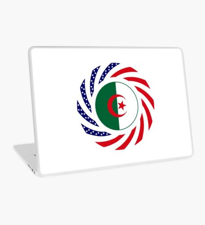 Algerian American Multinational Patriot Flag Laptop Skin