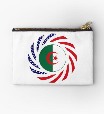 Algerian American Multinational Patriot Flag Zipper Pouch
