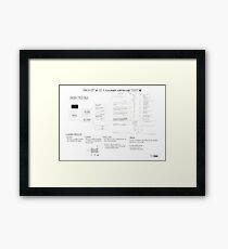 Mach-O 101 an OS X executable walkthrough (32b, old format) Framed Print