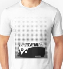 Halftone - VW Splitty Camper Van T-Shirt