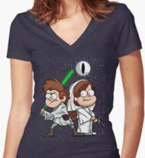 Wonder Twins Star Wars Women's Fitted V-Neck T-Shirt
