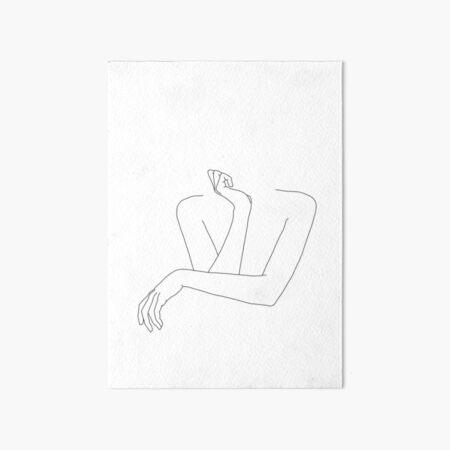 Folded arms line drawing - Anna Art Board Print