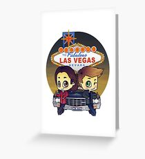 Winchesters in Vegas Greeting Card