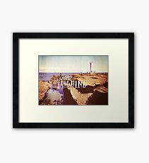 Gone Fishing Noon Lighthouse by the Sea Framed Print