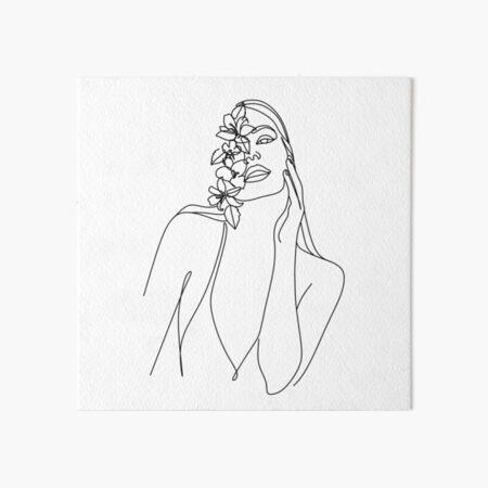 Minimal Line Art Woman Face II Art Print by Nadja | Line art drawings, Abstract face art, Line art Art Board Print