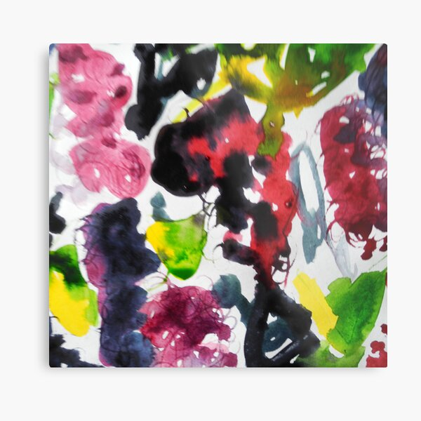 The garden in July, watercolour Metal Print