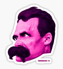 Nietzsche's Head - by Rev. Shakes Sticker
