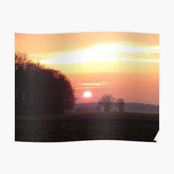 Sunset on Christmasday. Poster