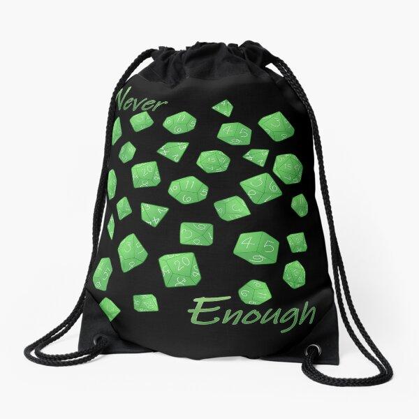 Polyhedral Dice - Green Drawstring Bag