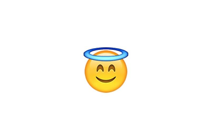 """Smiling Angel Emoji"" Studio Pouches by victoriab-123 ..."