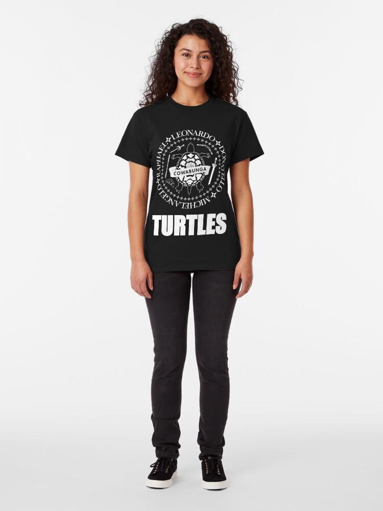 Alternate view of TMNT Ramones Logo Classic T-Shirt