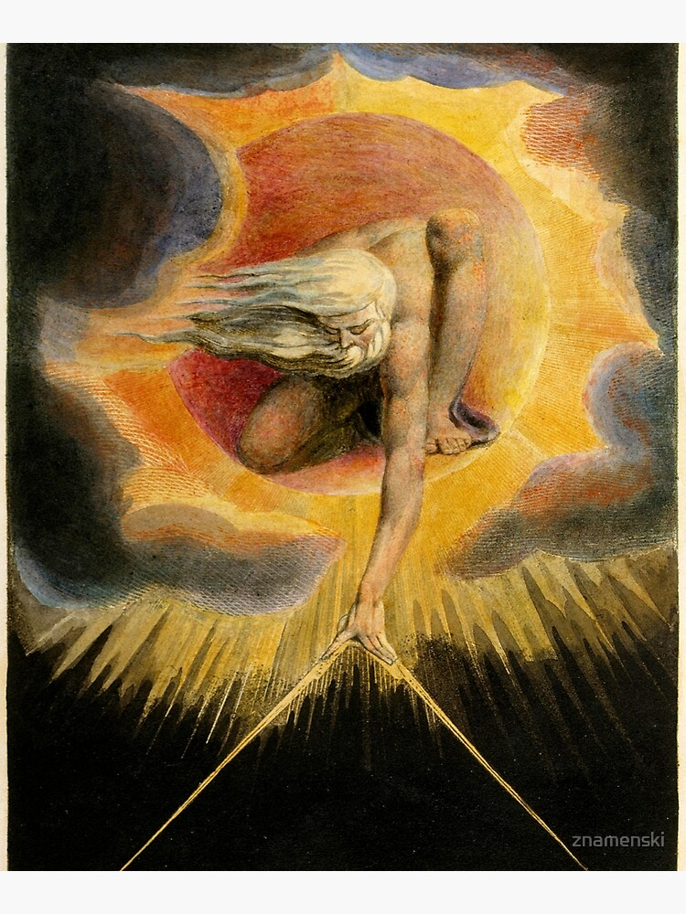 The Ancient of Days is a design by William Blake, originally published as the frontispiece to the 1794 work Europe a Prophecy by znamenski