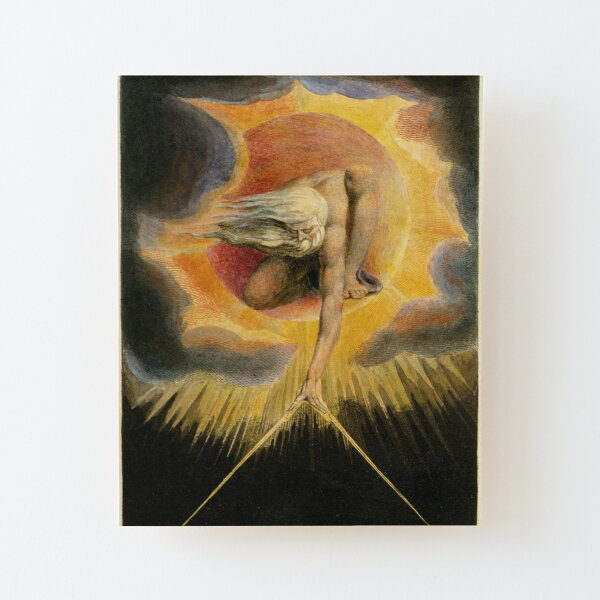 The Ancient of Days is a design by William Blake, originally published as the frontispiece to the 1794 work Europe a Prophecy Wood Mounted Print
