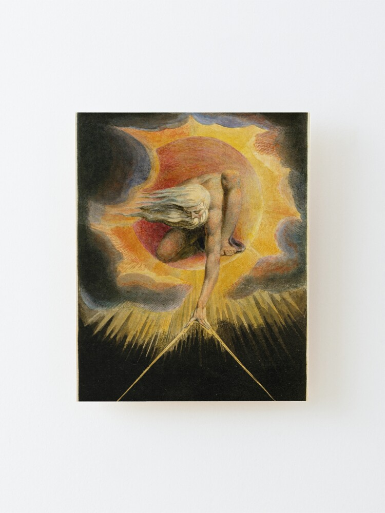 Alternate view of The Ancient of Days is a design by William Blake, originally published as the frontispiece to the 1794 work Europe a Prophecy Mounted Print
