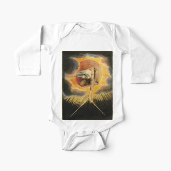 The Ancient of Days is a design by William Blake, originally published as the frontispiece to the 1794 work Europe a Prophecy Long Sleeve Baby One-Piece
