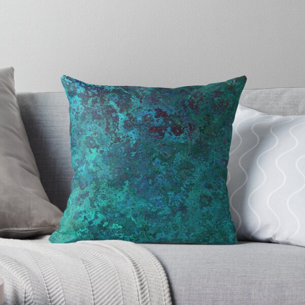 Shimmering Ocean Blue Throw Pillow