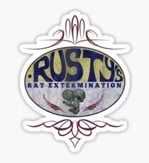 Rusty's Ratrod Exterminator Sticker