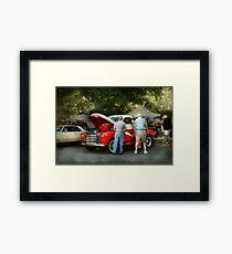 Car - Guys and cars Framed Print