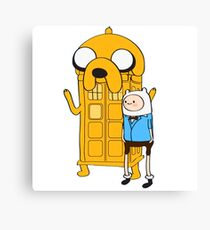 Police Box Jake and Finn Canvas Print
