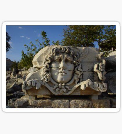 Medusa Gorgon in Apollo Temple, Didyma Sticker