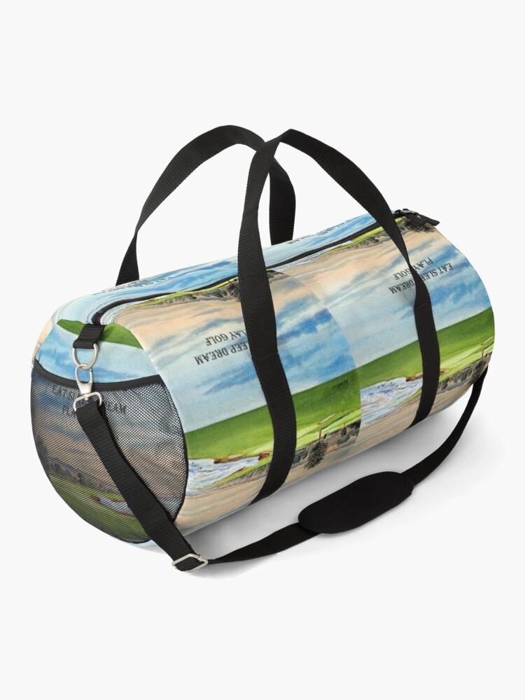Alternate view of Pebble Beach Golf Course 18th Green - Eat Sleep Dream Play Golf Duffle Bag