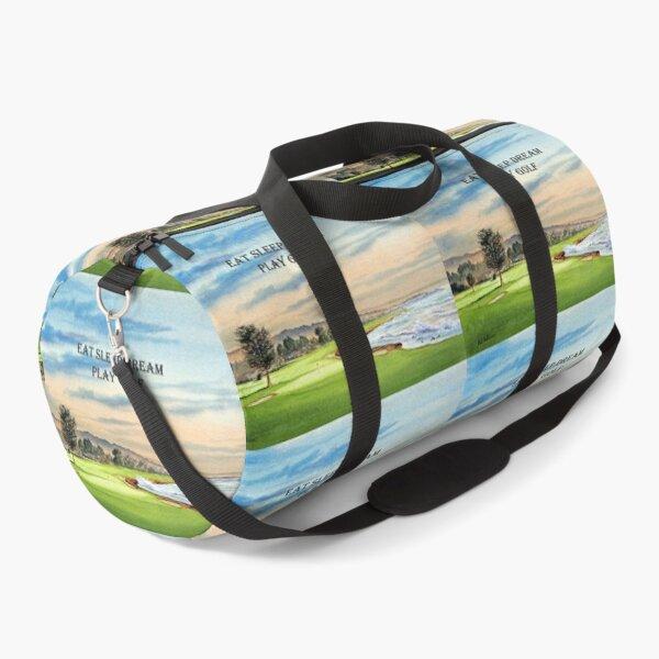 Pebble Beach Golf Course 18th Green - Eat Sleep Dream Play Golf Duffle Bag