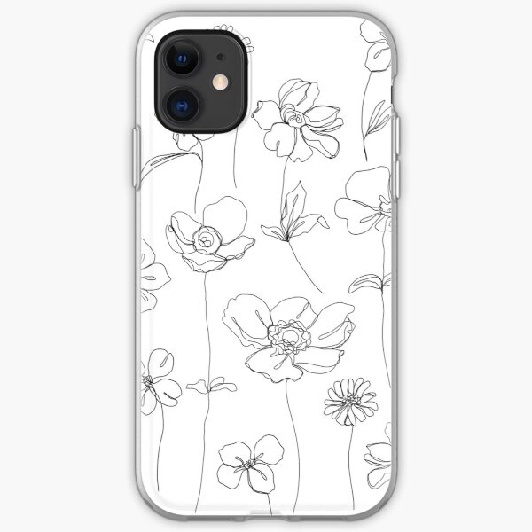 Botanical floral illustration - Botanicals White iPhone Soft Case
