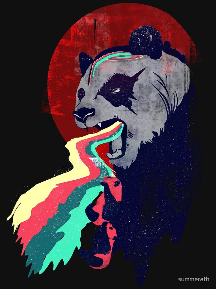 Angry Rainbow Panda | Unisex T-Shirt
