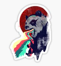 Angry Rainbow Panda Sticker
