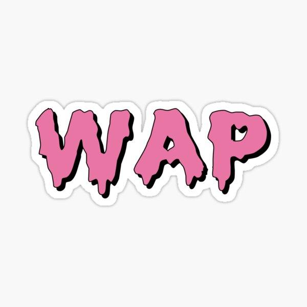 WAP Magenta Drip Sticker