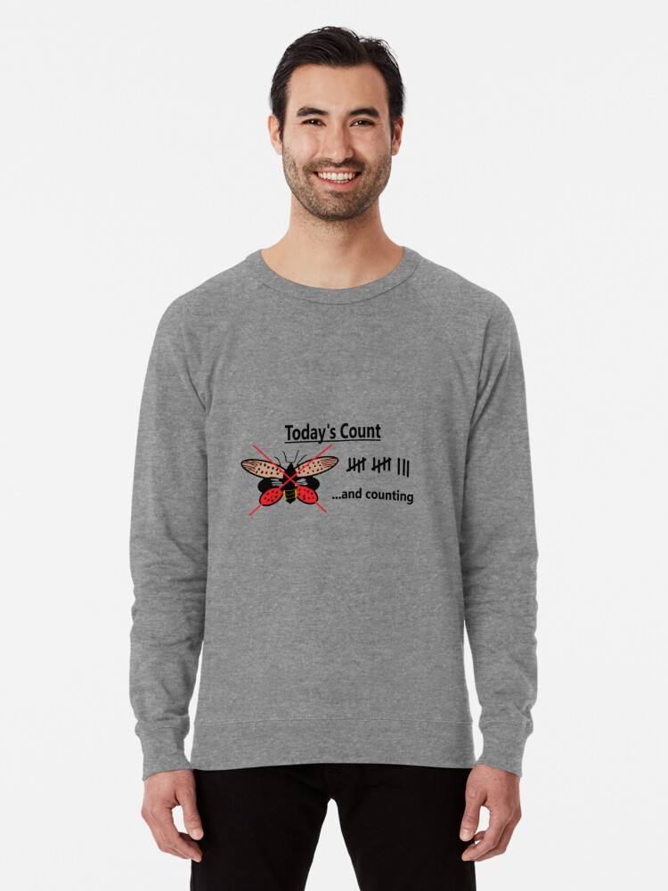 Alternate view of Today's Count of Lanternfly Lightweight Sweatshirt