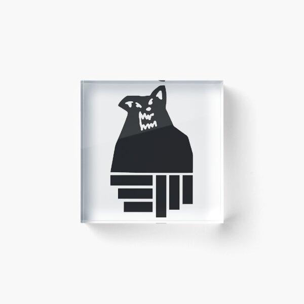 black wolf Acrylic Block