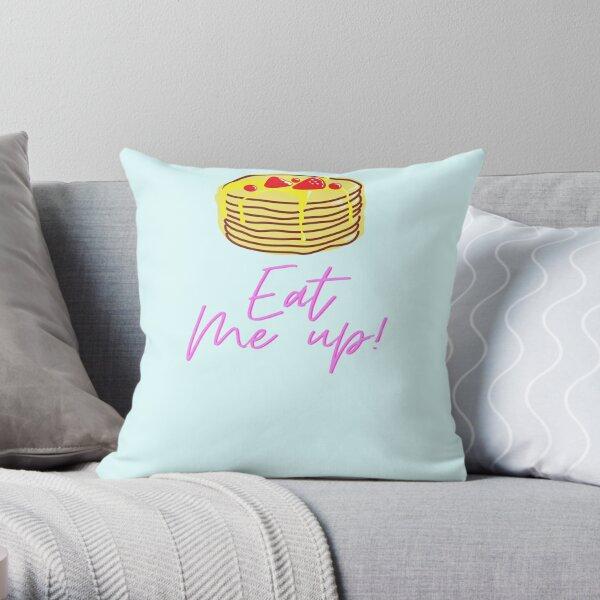 eat me up- yoga and vegan shirts/ tshirts Throw Pillow