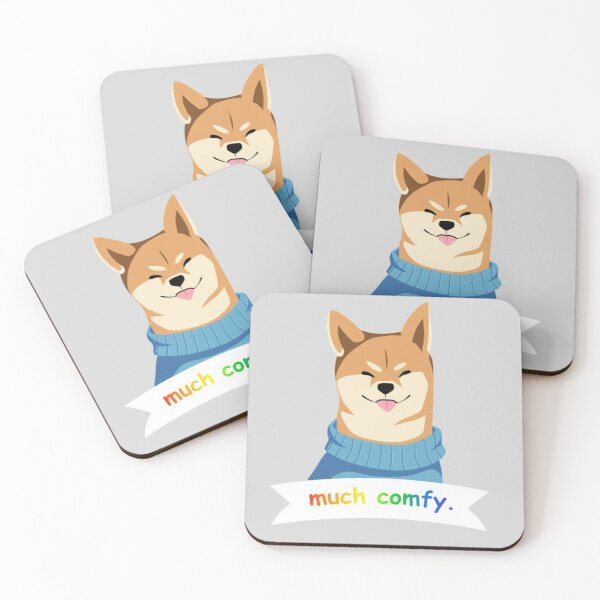 Comfy Doge Coasters (Set of 4)