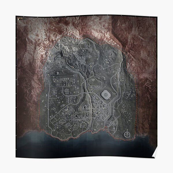 Cod warzone map Poster