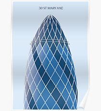 30 St Mary Axe, London Poster