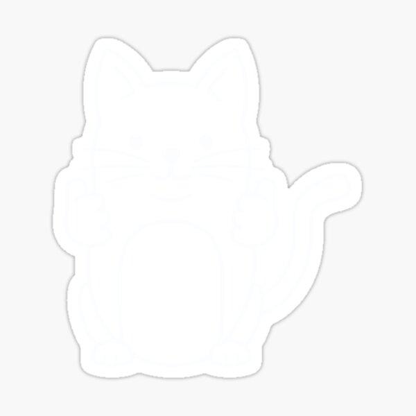 Pulgares arriba gato Pegatina