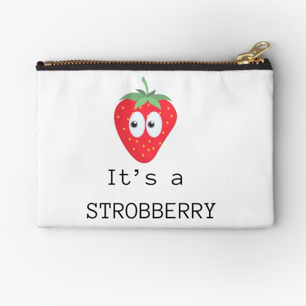 strobberry - strawberry cute food tshirt for foodie kids and women Zipper Pouch